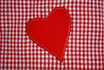 gingham heart freestock