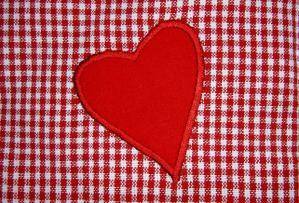 gingham heart freestock