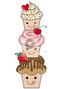 cute cupcakes, vector