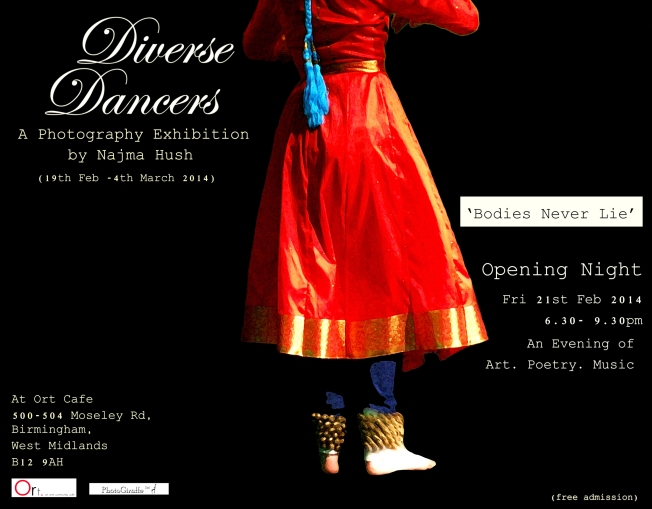 Diverse Dancers Part I:   An Exhibition for Exhibitionists, with Art, Poetry and Music.