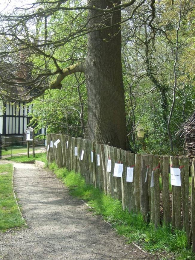 Acton Scott Poetry fence