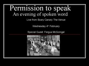 permission to speak Feb