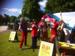 MAC Graham Langley, Catriona Heatherington, Rich Scott, Cath Edwards and Jenna Catton at Cannon Hill Park.