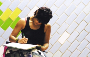 creative commons girl-writing-full daniel sandoval,