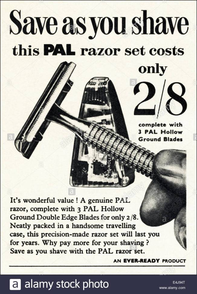 1950s-advert-for-pal-razor-set-by-ever-ready-in-british-magazine-dated-e4j94t