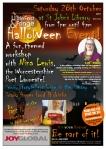 LitFest Halloween 2017poster