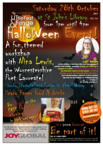 LitFest Halloween 2017 poster
