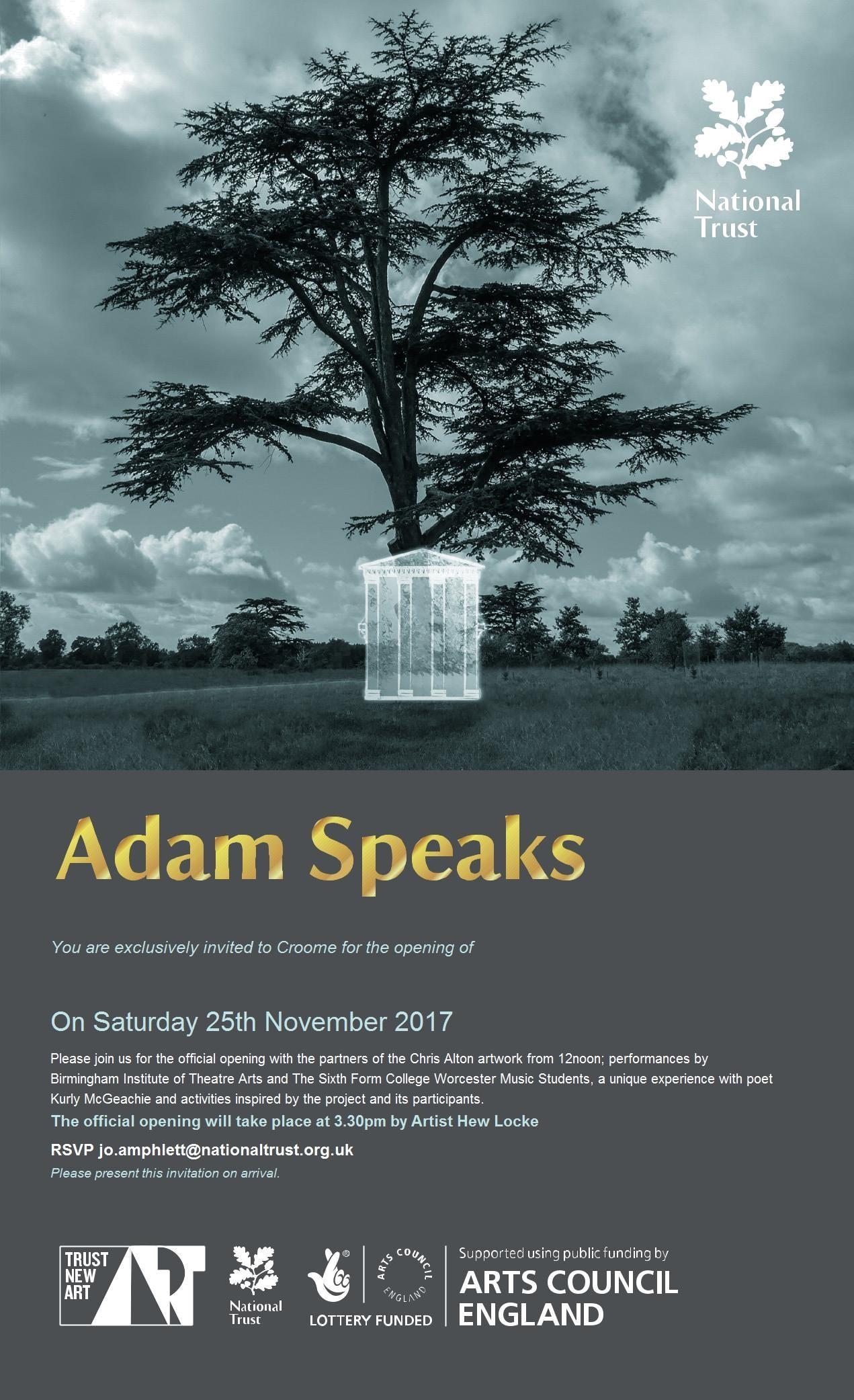 adam speaks launch invite25