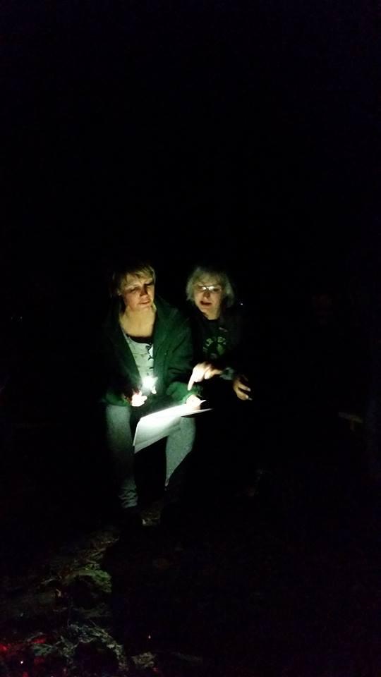 SPF bonfire reading