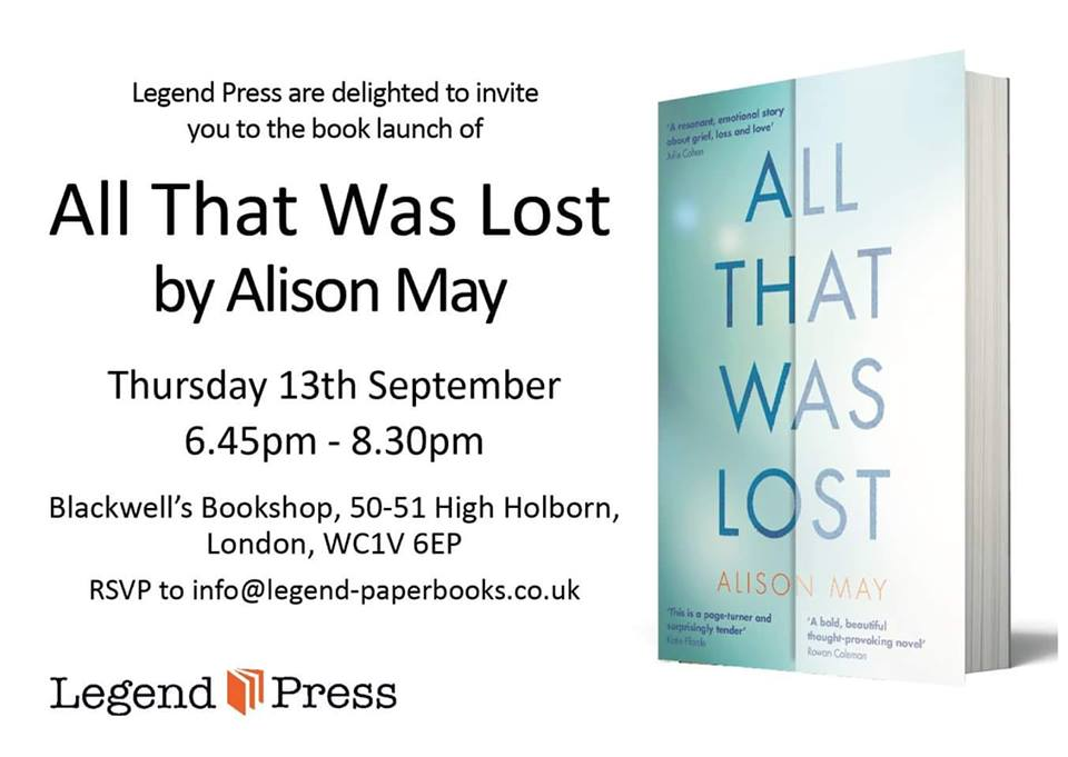 alison book launch poster