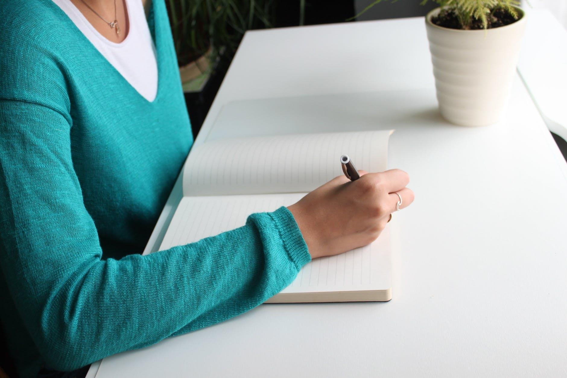 adult blank desk female